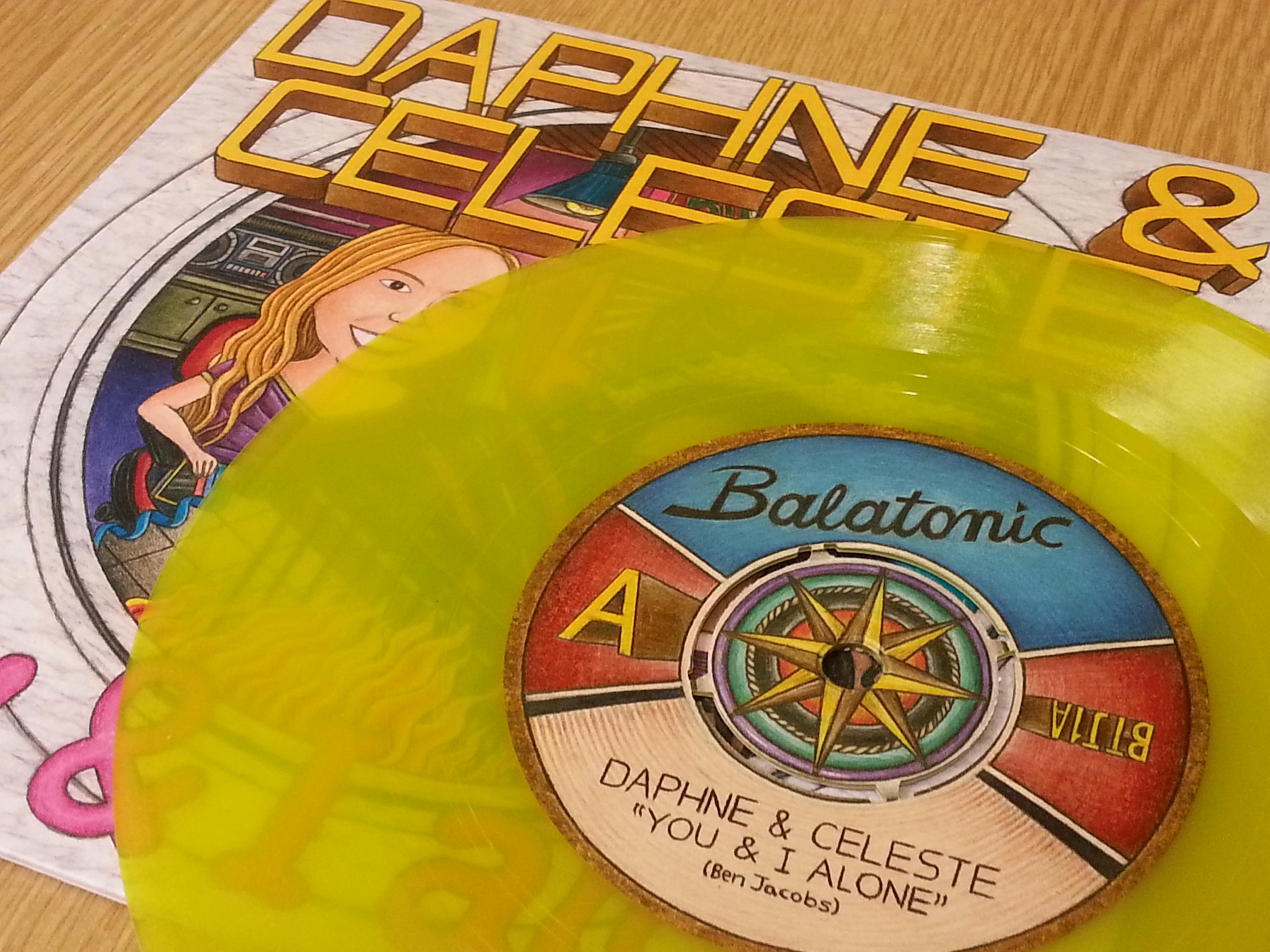 """daphne & celeste produce a new 7"""" vinyl"""